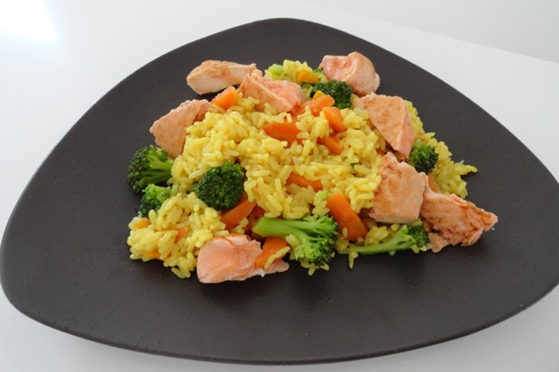 Lachs-Curry