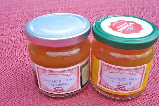 Holunderblüten-Ingwer-Chilli-Gelee