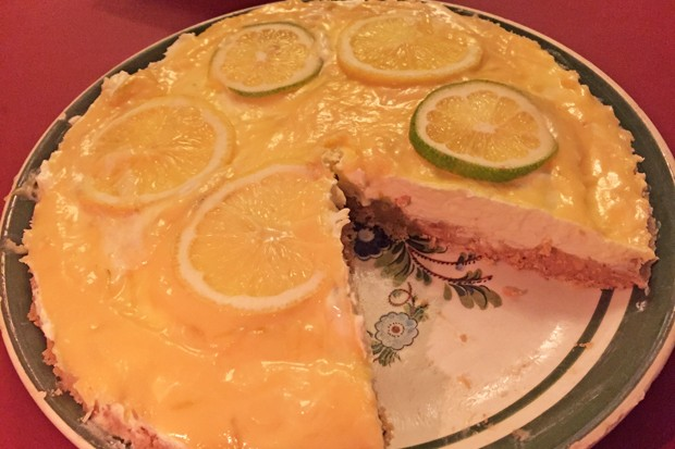 Zitronen-Limetten-Cheesecake ohne Backen