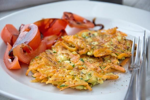 Zucchini-Karotten-Laibchen