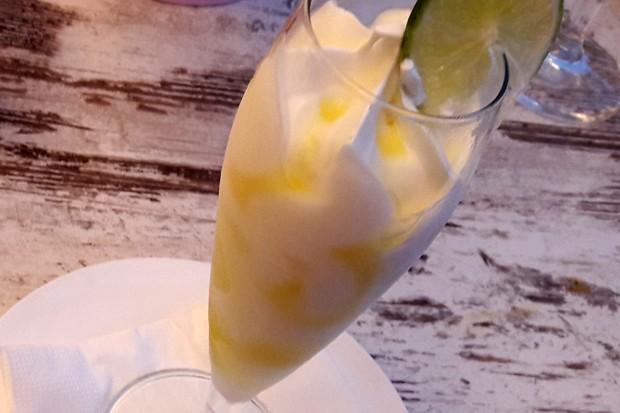 Zitronen-Wodka-Sorbet
