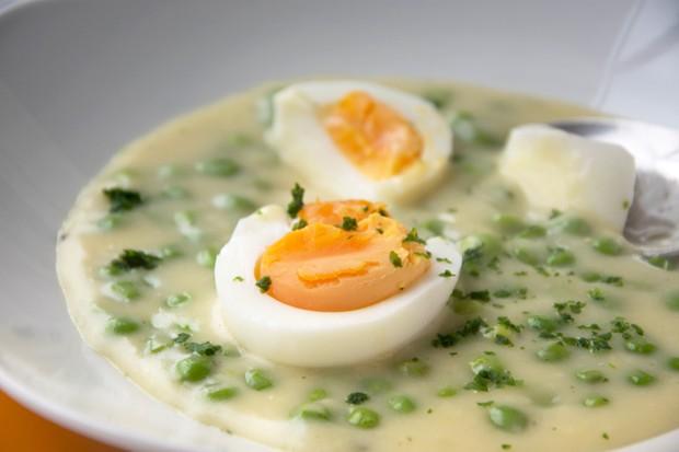 Eier in Senfsauce