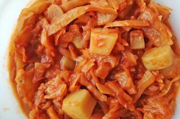 Paradeiskraut mit Kartoffeln