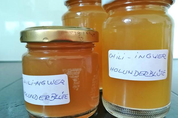 Ingwer-Chili-Holunderblütengelee