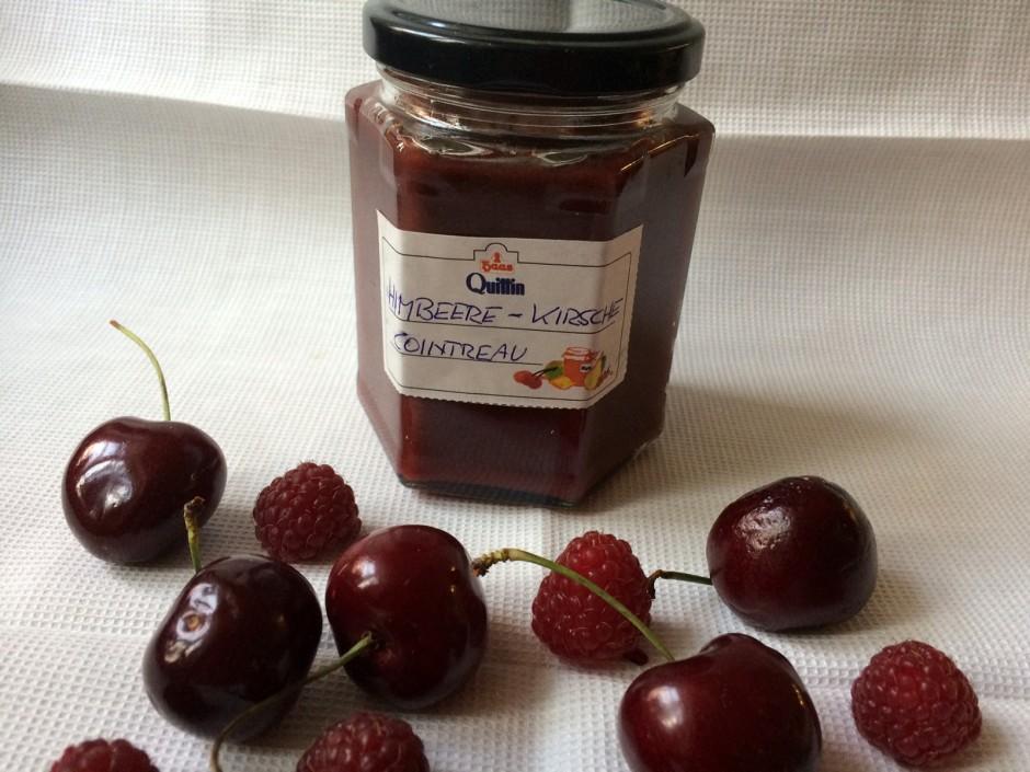 Himbeer - Kirsch - Marmelade mit Cointreau