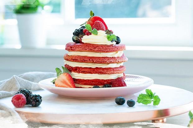 Pancake-Torte mit Brunch Buttrig-Frisch