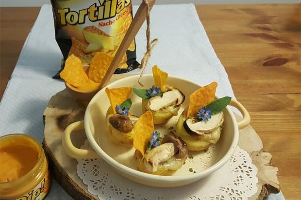 Gebackene Kartoffeln mit einer Chio-Cheese-Dip Füllung