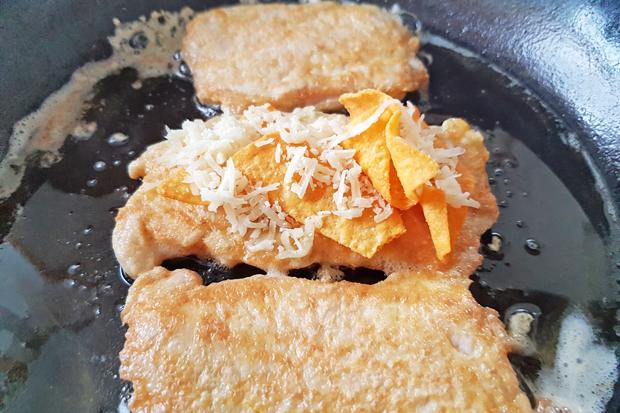 Pariser Schnitzel mit Tortillachips