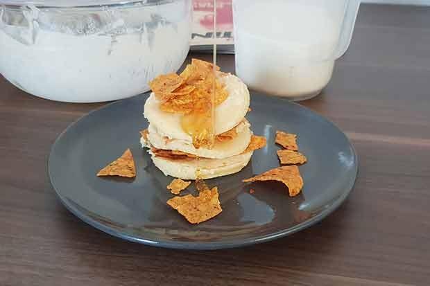 Pancakes mt Honig und Tortillas