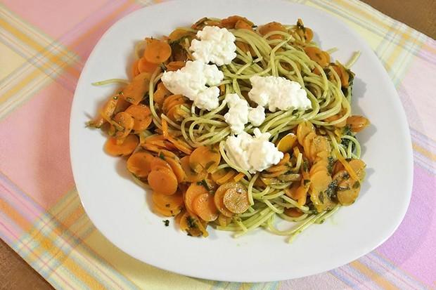 Karotten-Bärlauch-Spaghetti