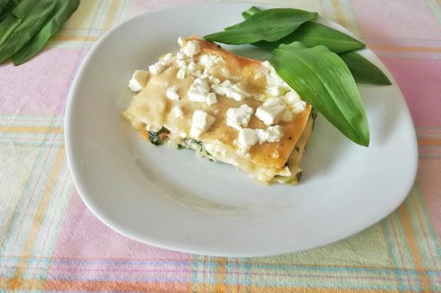 Bärlauch-Lasagne
