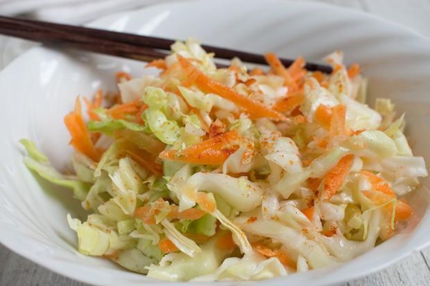 Koreanischer Kraut-Karotten-Salat