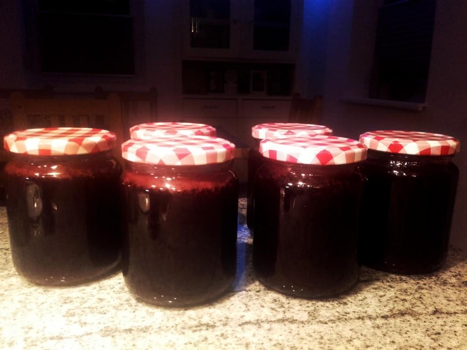 Rote Trauben-Zimt-Marmelade