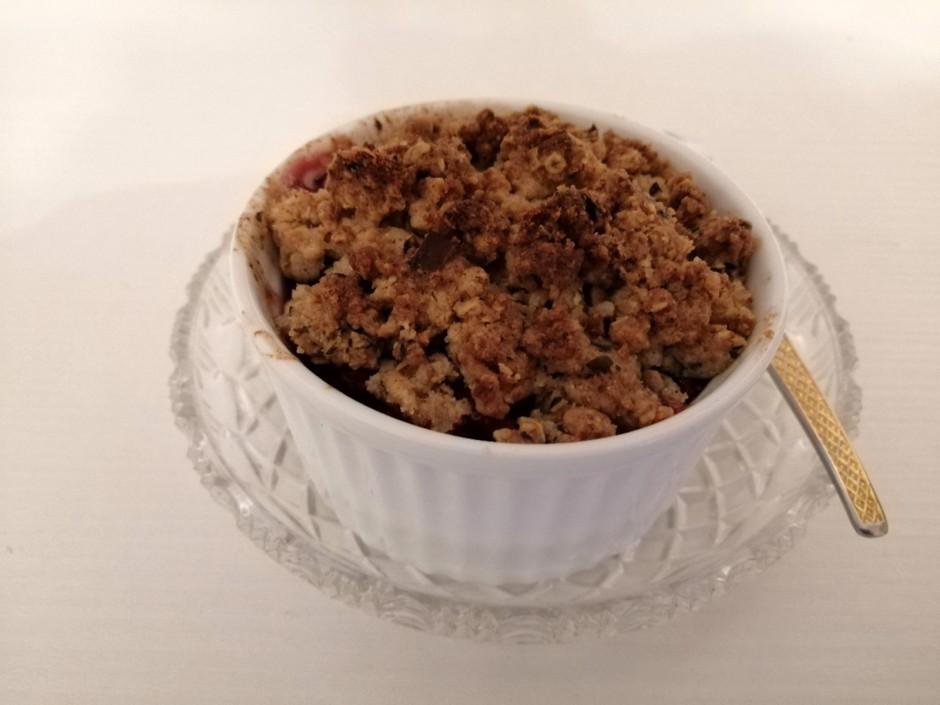 Quitten-Cranberry-Crumble