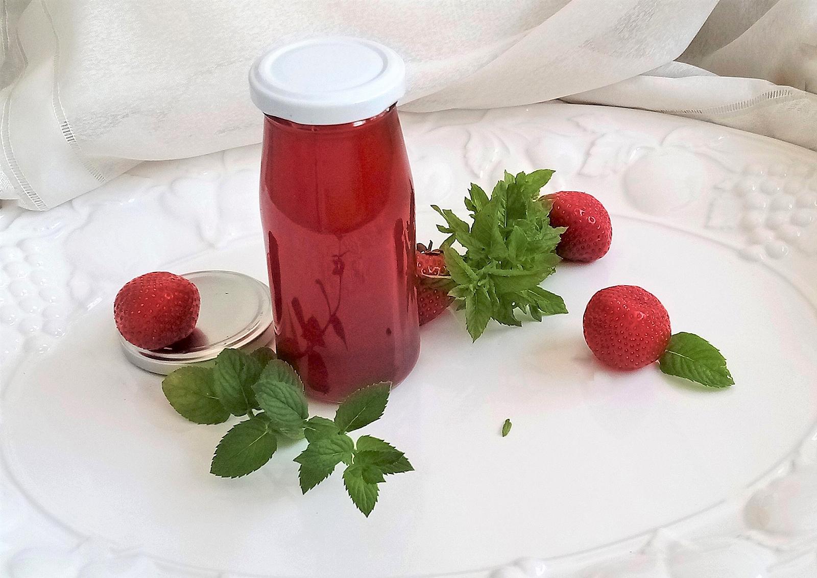 Erdbeer-Pfefferminzsauce