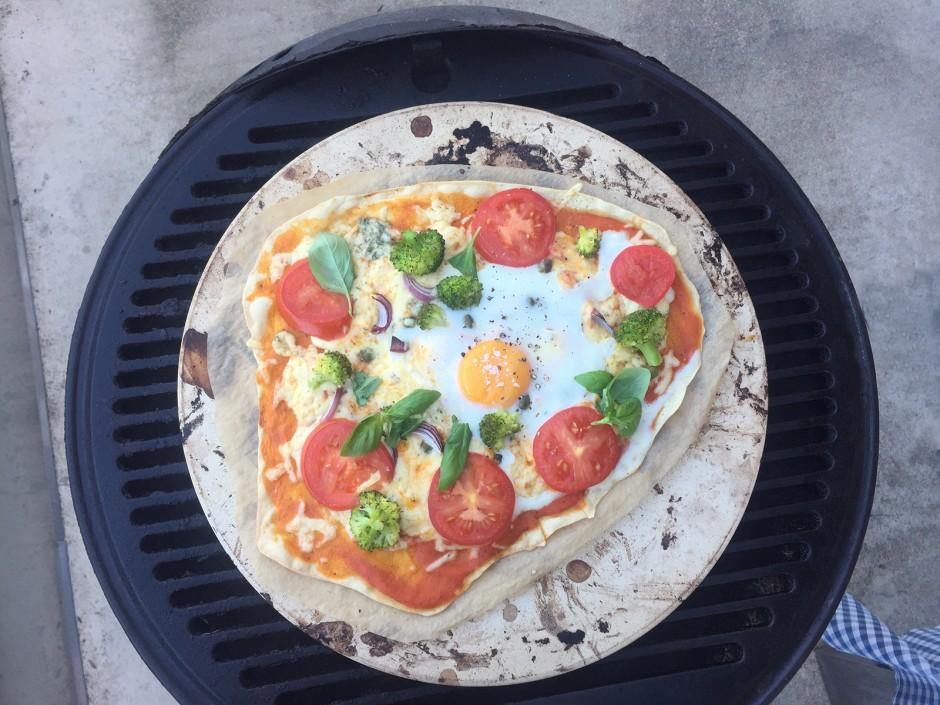 Pizza Vegetariana vom Grill