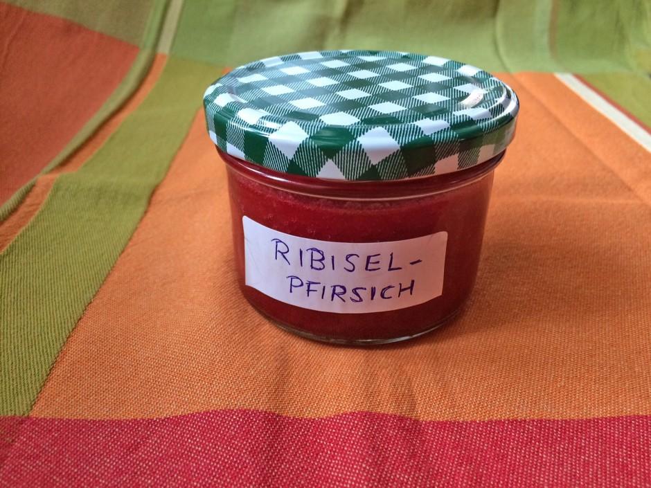 Ribisel-Pfirsich-Marmelade