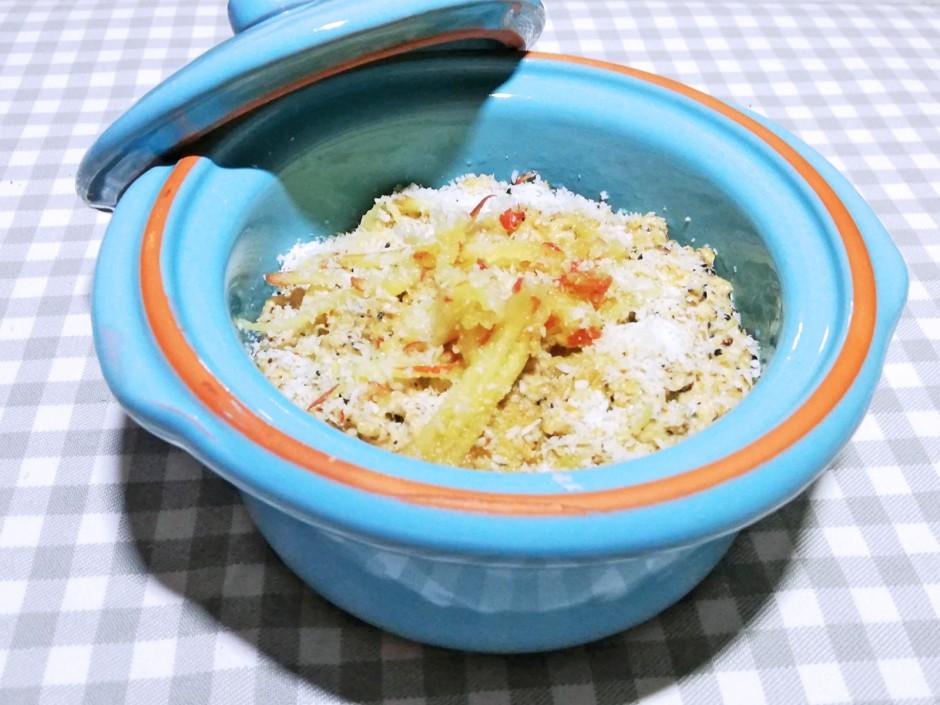 Kokos-Apfel-Porridge