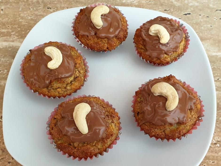 Zucchini-Mandel-Muffins ohne Zucker