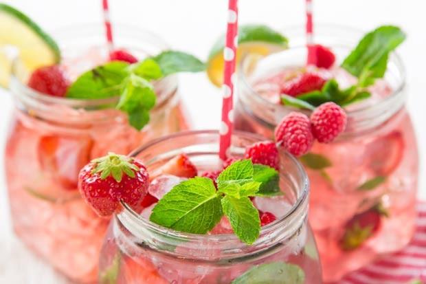 Erdbeer Himbeer Limonade