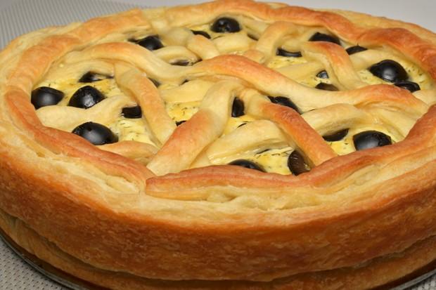 Spinat-Oliven Quiche