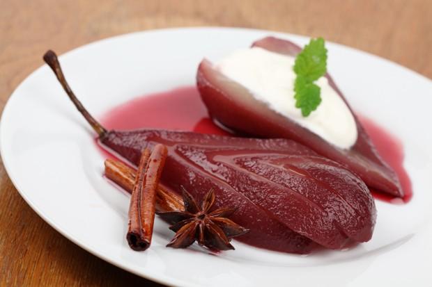 Lebkuchencreme mit Glühweinbirne