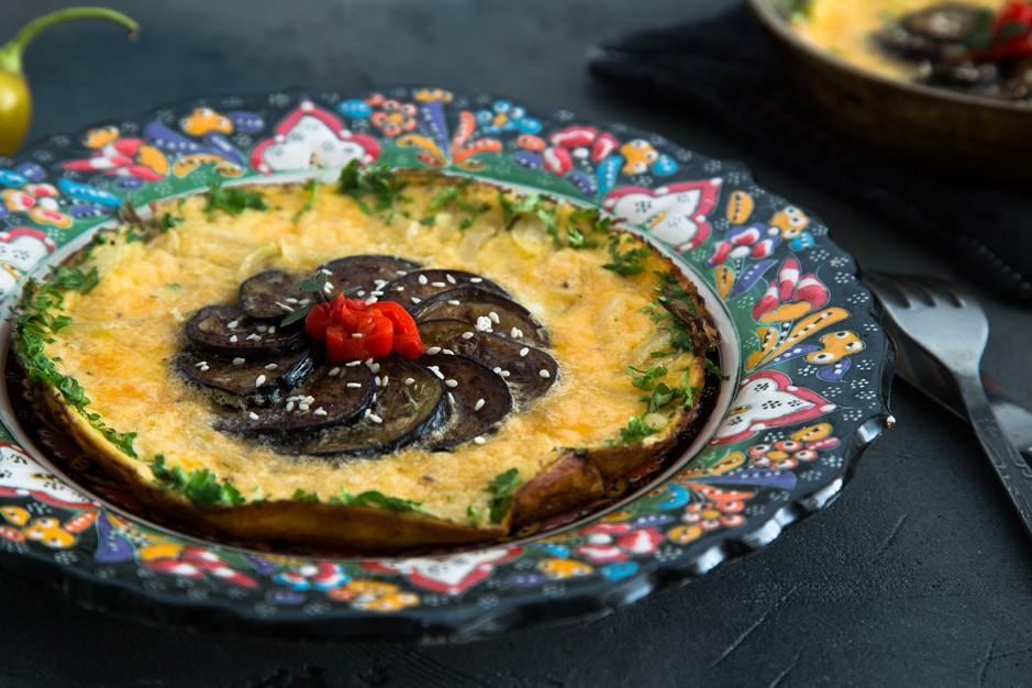 Auberginen-Omelette