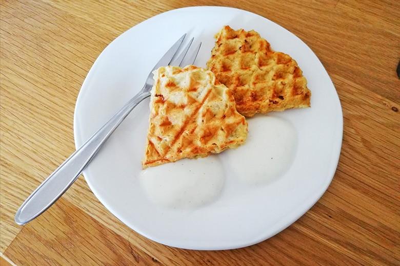 Vanille-Joghurt-Waffeln