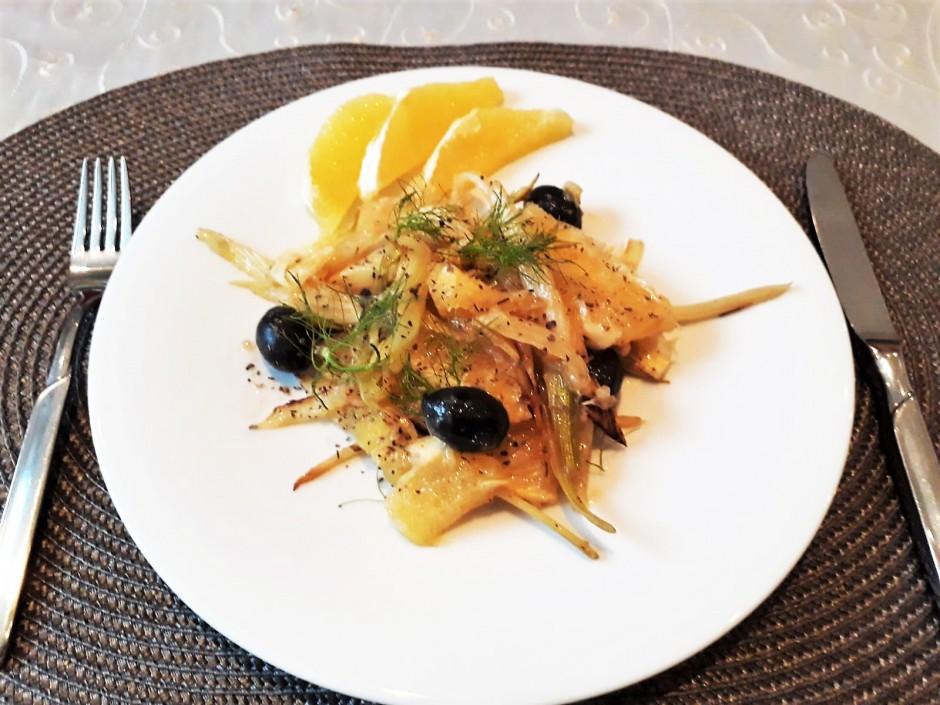 gebratener Fenchel-Orangen-Salat