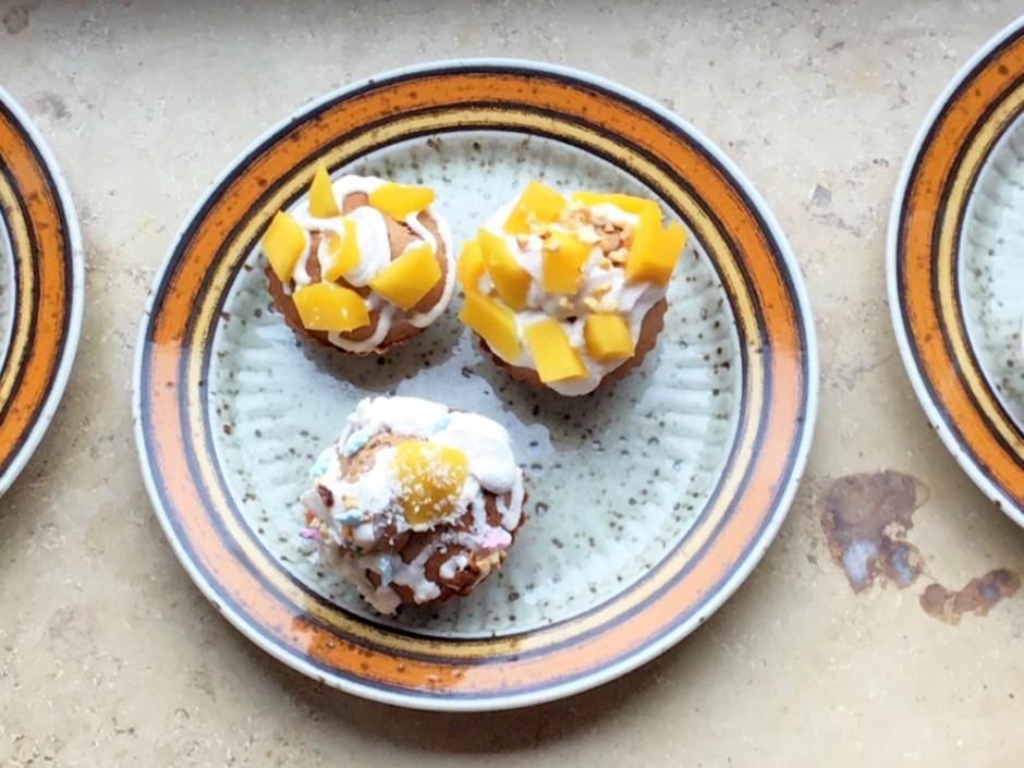 Dinkel-Muffins mit Oberscreme
