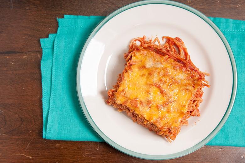 Einfacher Spaghettiauflauf