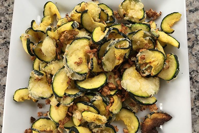 Zucchini aus der Heißluftfritteuse