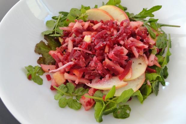 Rote-Rüben-Salat mit Äpfeln