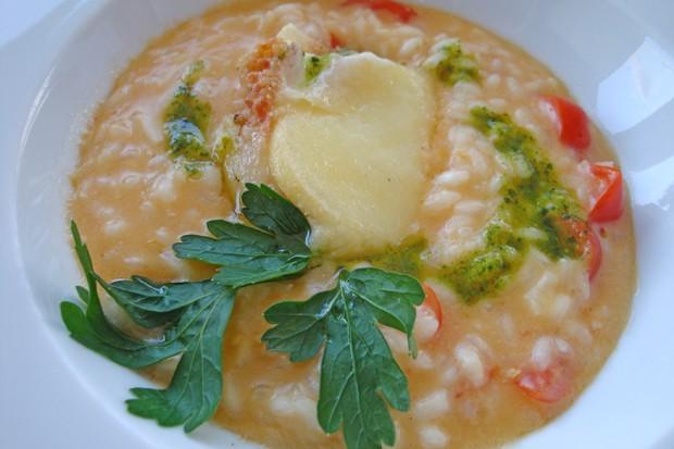Scharfes Risotto mit Tomaten