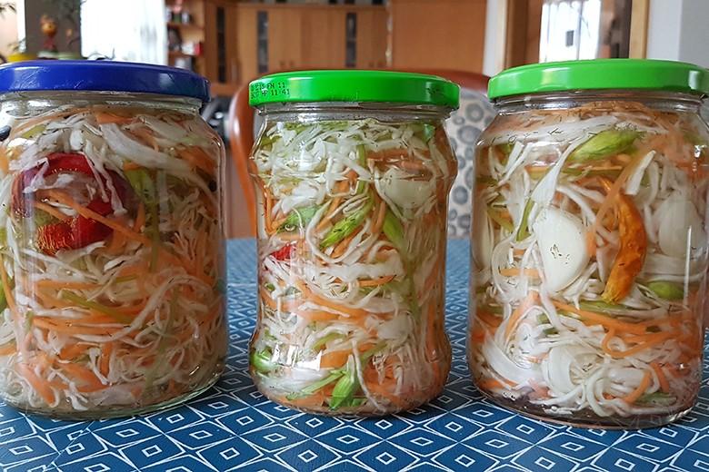 Krautsalat mit Karotten
