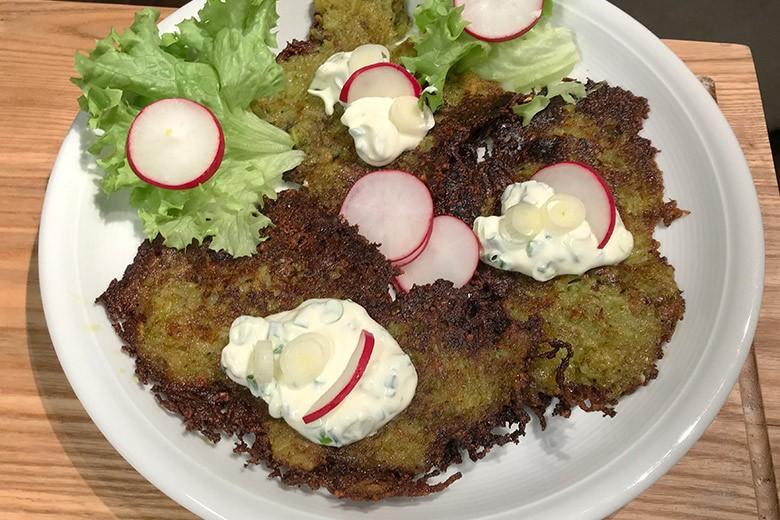 Kartoffelpuffer mit Bärlauchpesto