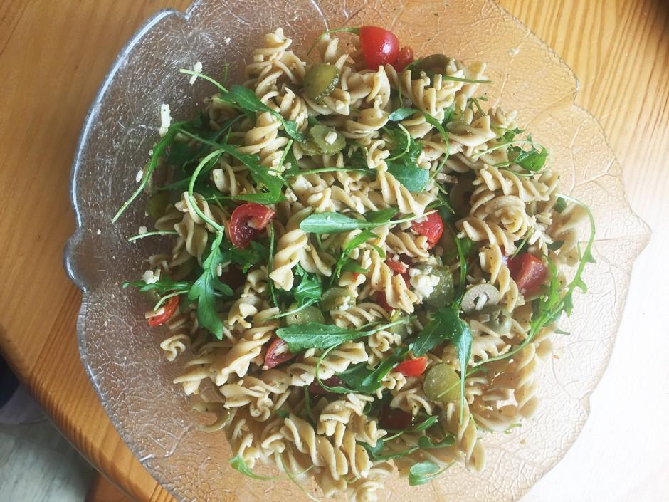 Vollwert-Nudelsalat a la Uli vegetarisch