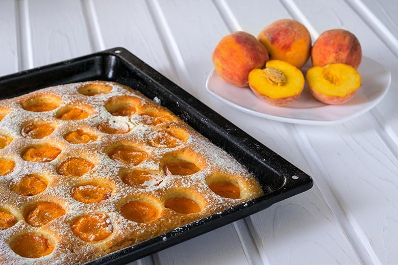 Pfirsich Blechkuchen