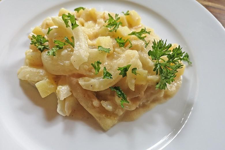 Kartoffel-Fenchel-Pfanne mit Käse